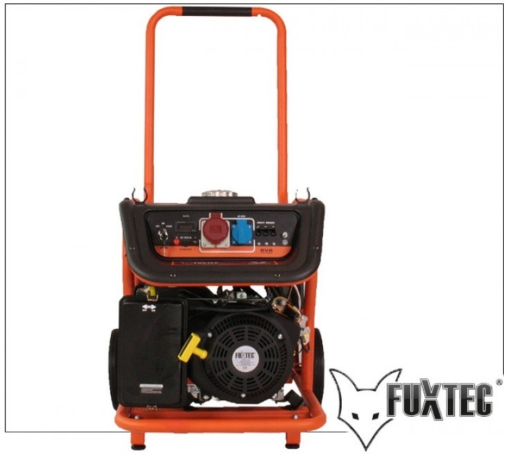 Generador electrico FUXTEC FX-SG7500B - con conexión a 380V y motor arranque eléctrico
